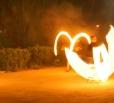 На улицах города появились любители экстремального увлечения – огненного шоу (fire show)