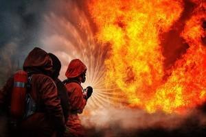 огонь, пожар, возгорание, пожарные