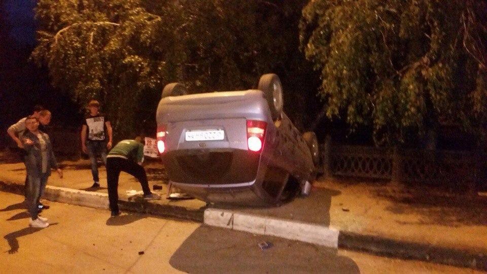 Перевернутый автомобиль_киа_балаково