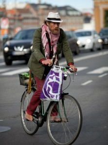 бомж на велосипеде
