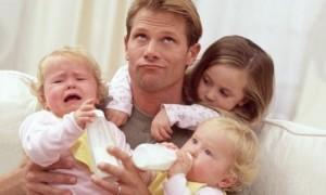отец, трое детей