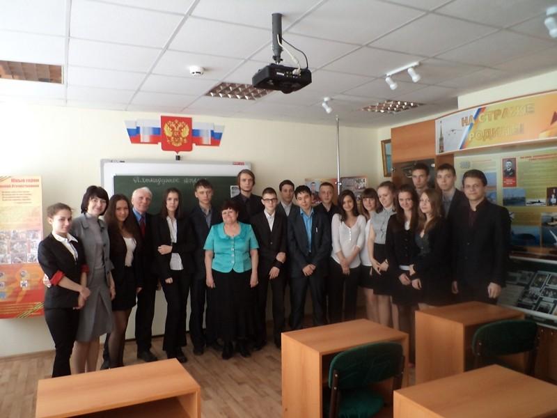 Нина Воронова_школьники_встреча