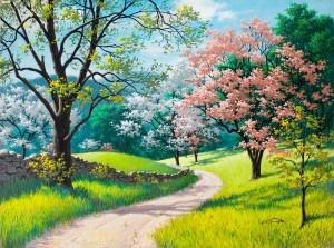 рисунок_картина_весна_лето_деревья