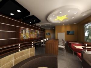 Дизайн ресторана Карлс Дж в Блк 1