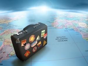 туризм, чемодан, путешествие