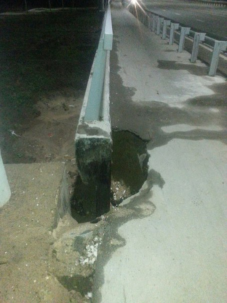 мост победы_новый мост_провал грунта